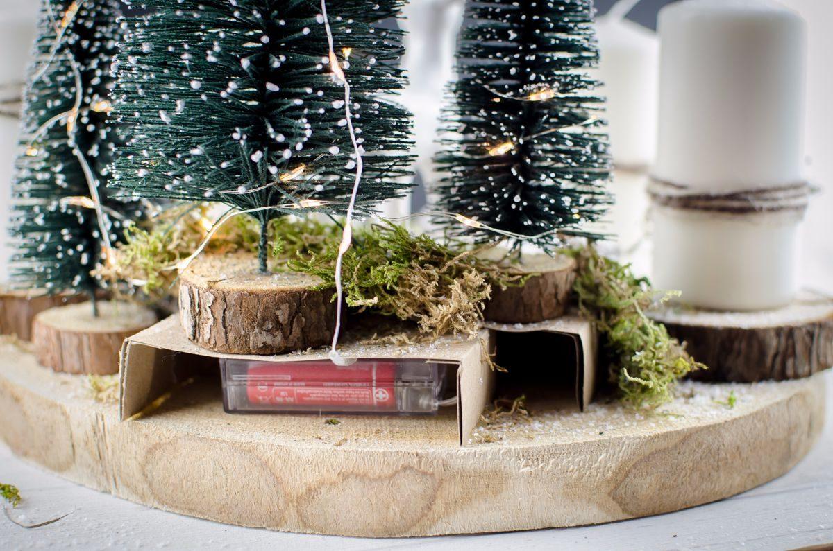 baumscheibe als adventskranz europ ische weihnachtstraditionen. Black Bedroom Furniture Sets. Home Design Ideas